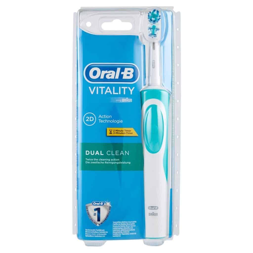 Oral-B Vitality Dual Clean - Brosse à dents électrique rechargeable avec minuteur intégré