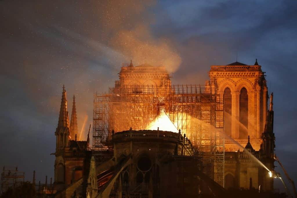 La majorité de la structure de Notre-Dame de Paris préservée