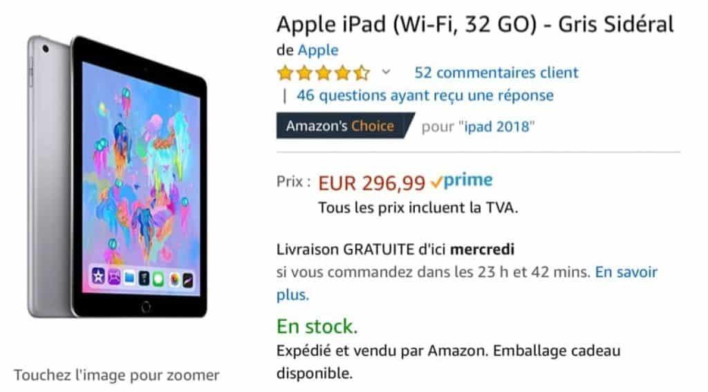 Amazon lance une promo alléchante sur les iPads