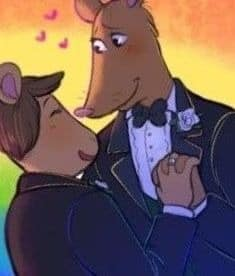 Personnages de dessin animé sexe gay